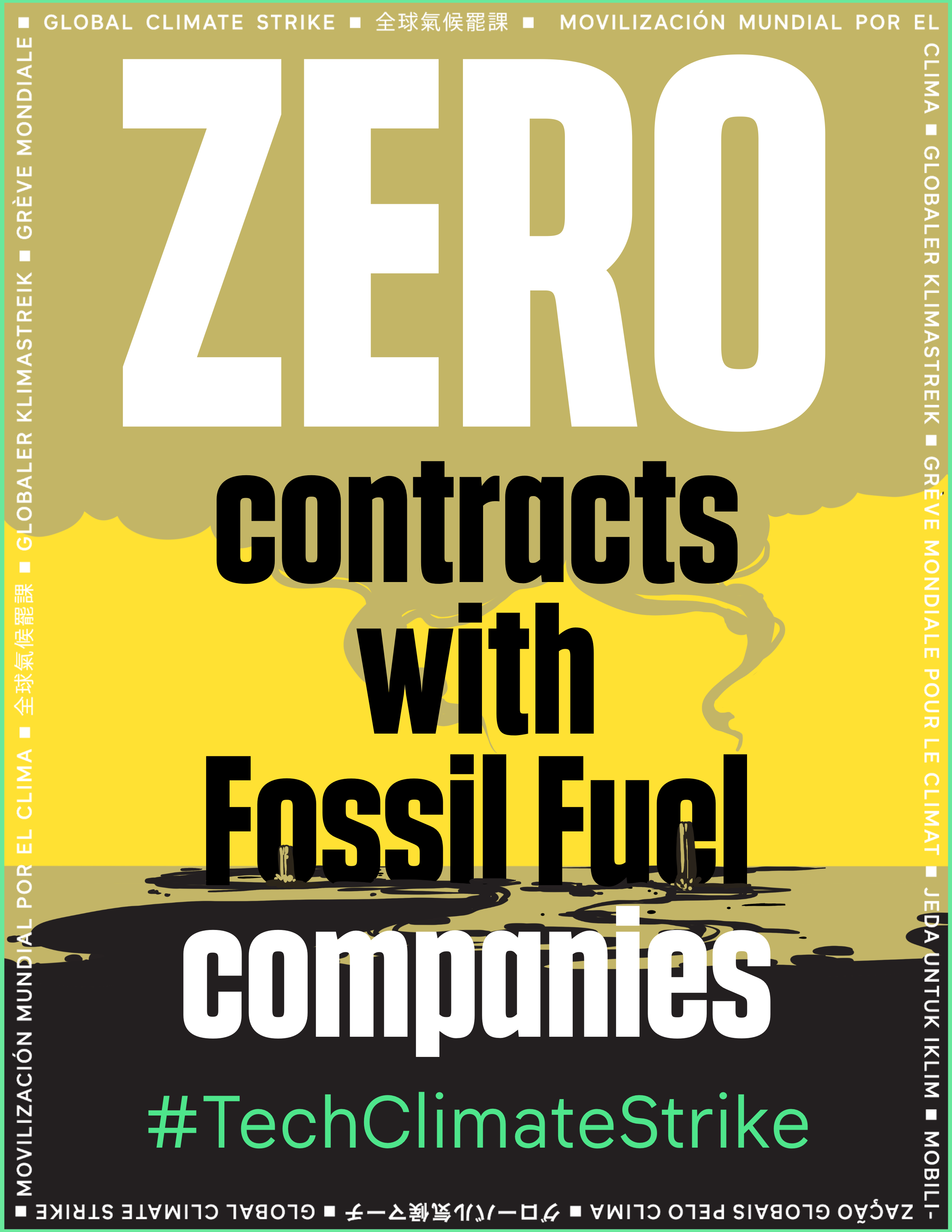 Zero contracts with fossil fuel companies